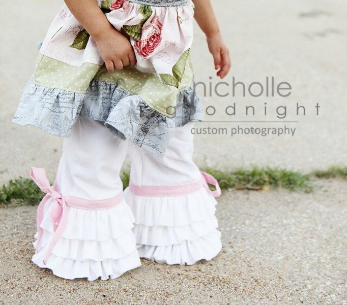 SALE..Buy 2 get 1 Free..Instant Download PDF Sewing Pattern World's Cutest Girl's Triple Ruffle Capri or Full Length Pants, 3-6 M to 8 by FooFooThreads on Etsy https://www.etsy.com/listing/155366533/salebuy-2-get-1-freeinstant-download-pdf
