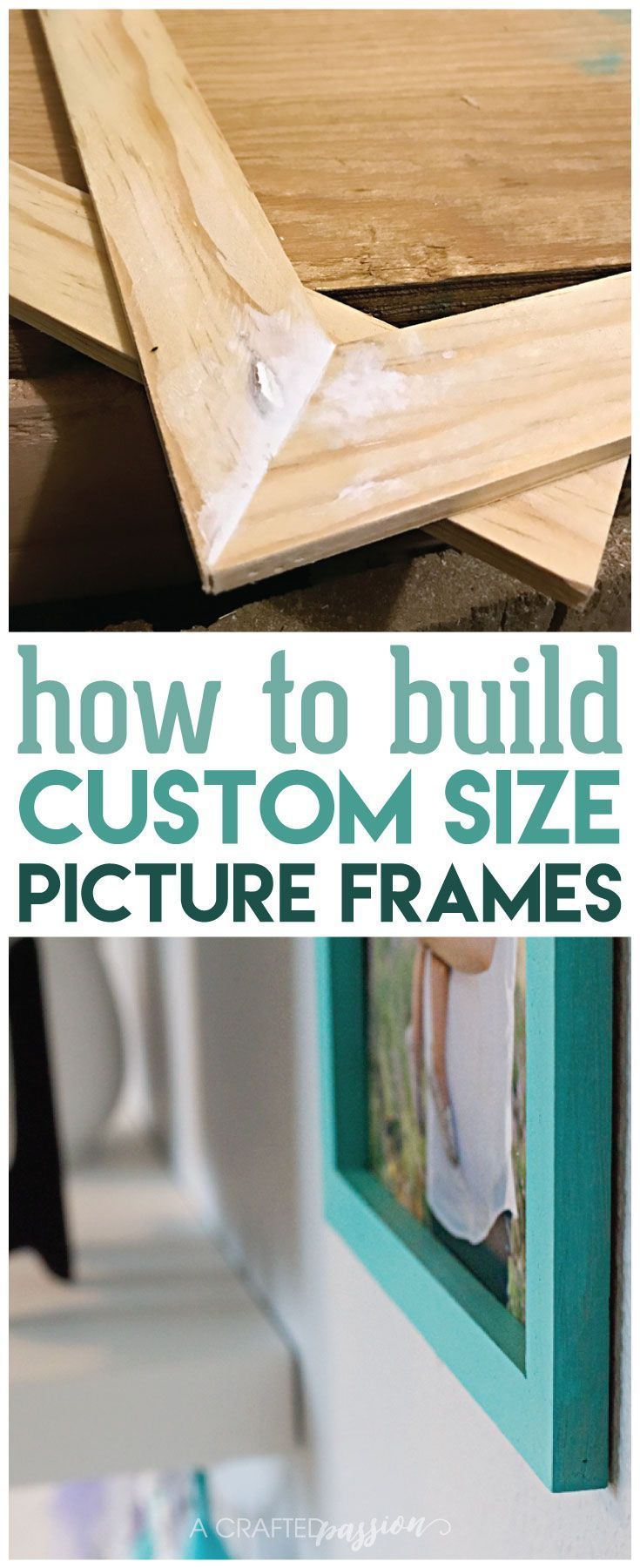 How to Build an Easy Custom Size Picture Frame // Can't find the perfect sized picture frame? Learn how to make your own in a few simple steps with this easy tutorial!