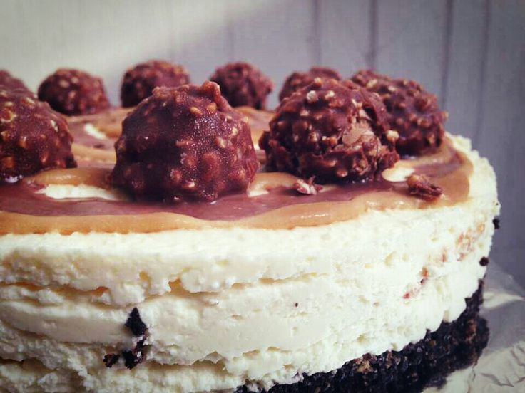 Cheesecake caramel nutella