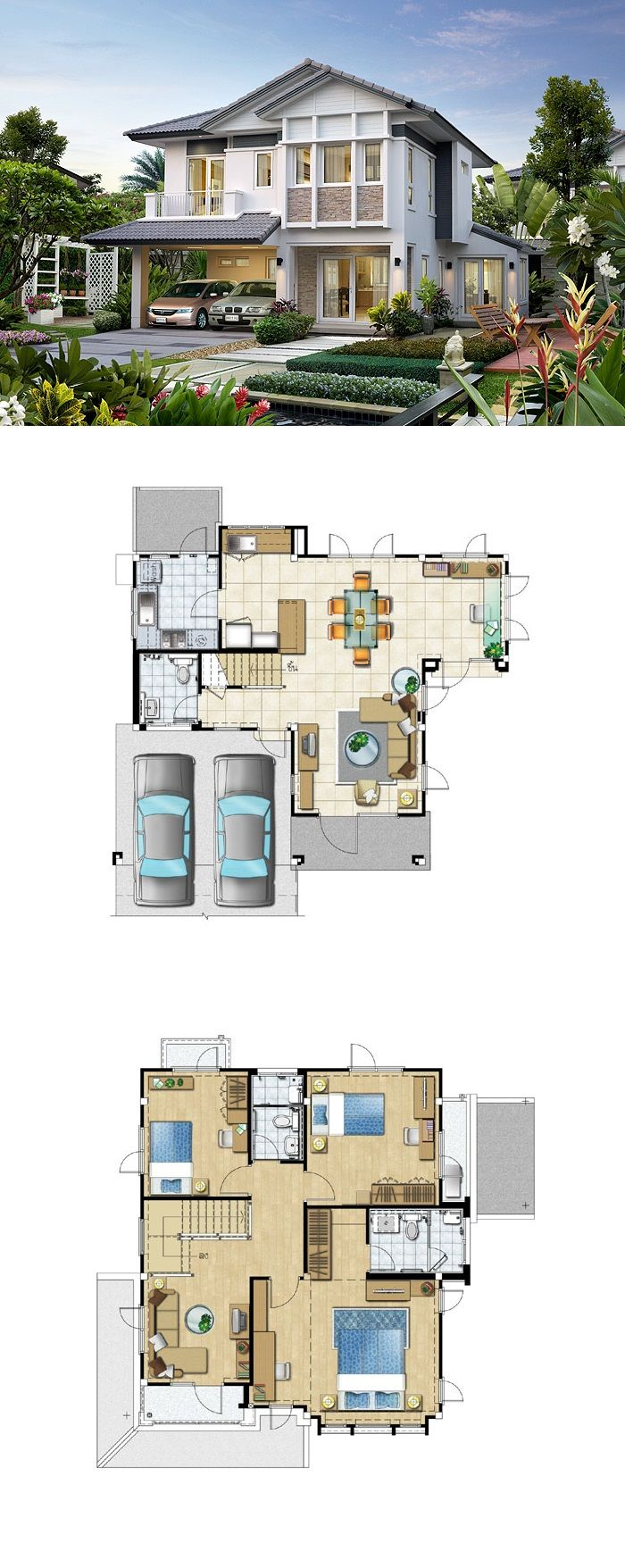 LAND AND HOUSES 34 best House plans