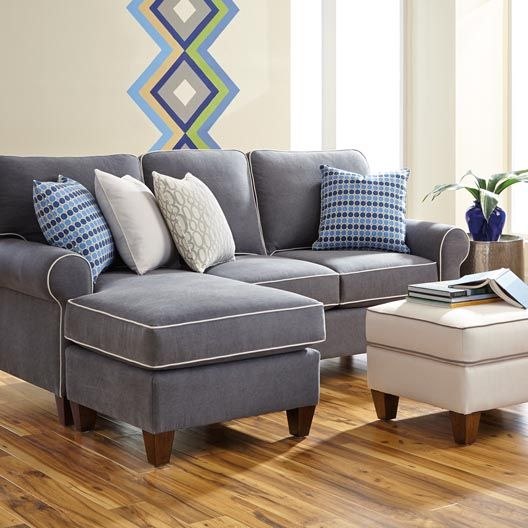 Greenwich Flip Flop Chaise - can turn from a left arm to a right arm chaise just by swapping the long cushion with a seat cushion and sliding the ottoman to the opposite side.