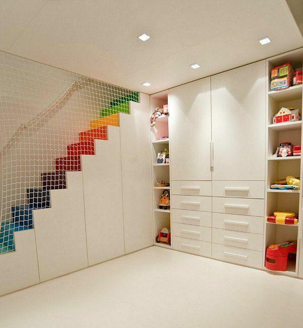 125 großartige Ideen zur Kinderzimmergestaltung - kinder schlafzimmer design ideen in weiß netz trennwand