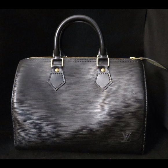 Louis Vuitton Epi Speedy 25 Just added to the site! Black Louis Vuitton Epi Speedy 25 .. Excellent condition! Louis Vuitton Bags Satchels