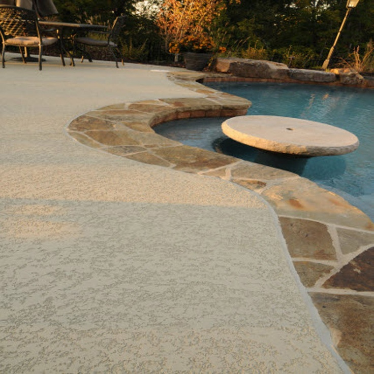 Concrete pool deck finishes pool decks pool remodel pinterest pools decks and pool decks Diy resurfacing concrete swimming pool deck ideas