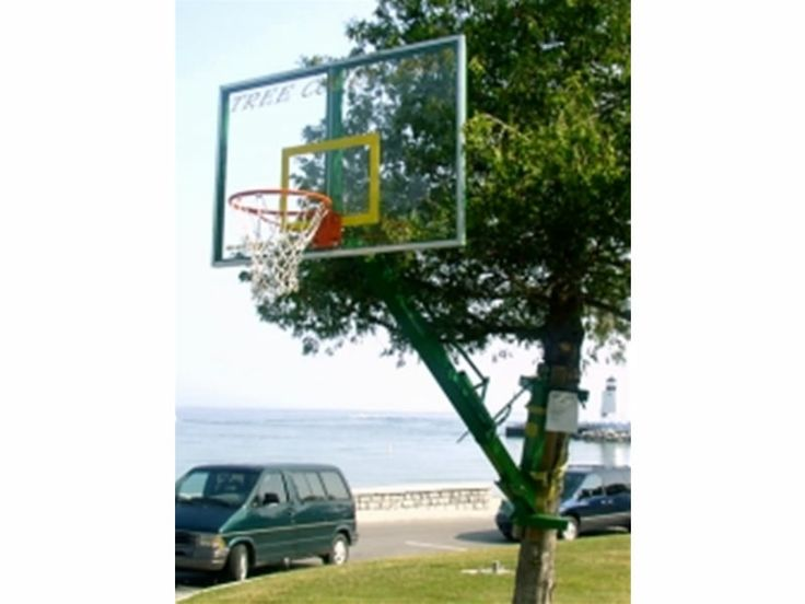 Another Basketball Hoop Invention You Can Stick On A Tree