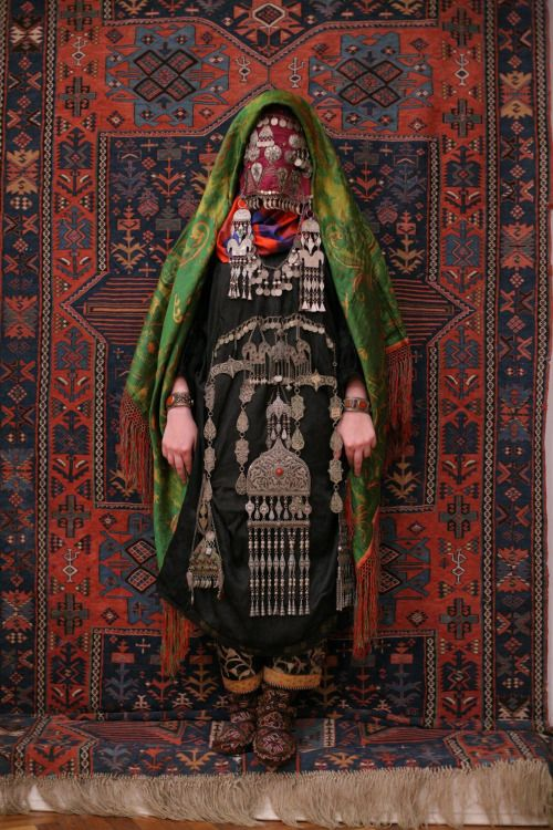 suzani: Avar woman (Caucasus), wedding traditional costume....