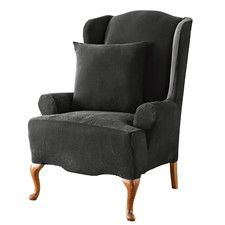 Stretch Pique Wing Chair Slipcover