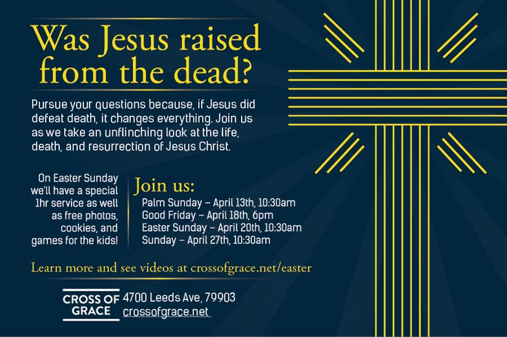 Cross of Grace's Easter Service Flyer Design