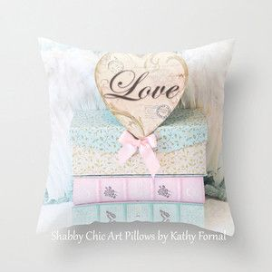 Любовь Книги наволочка, потертый шик Декор, розовый Аква крышка подушки, девочка Подушка Home Decor, детские подушки, Детская комната наволочки
