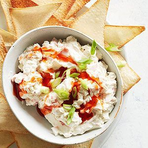 Creamy Crab Rangoon Dip with Wonton Chips by Midwest Living Magazine