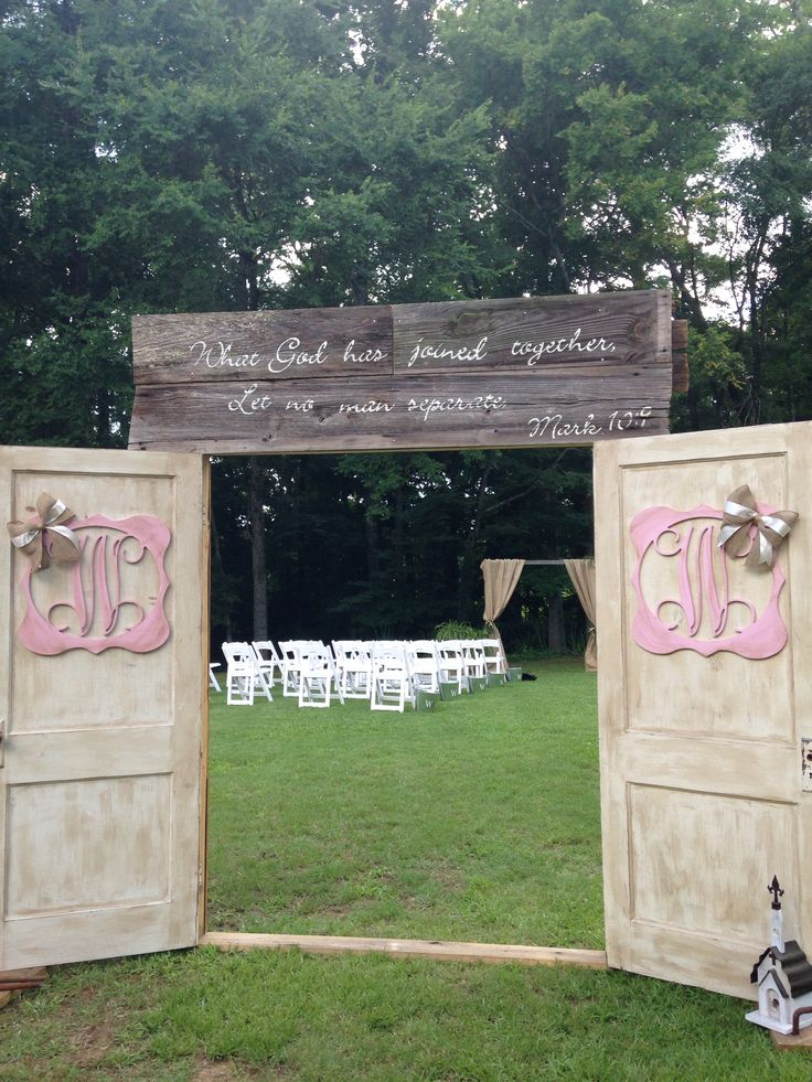 Outdoor wedding entrance!                                                       …