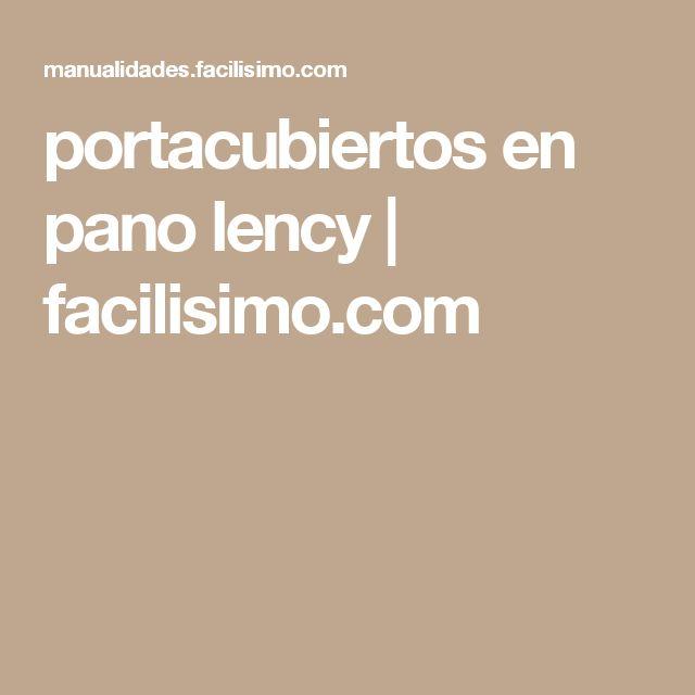 portacubiertos en pano lency | facilisimo.com
