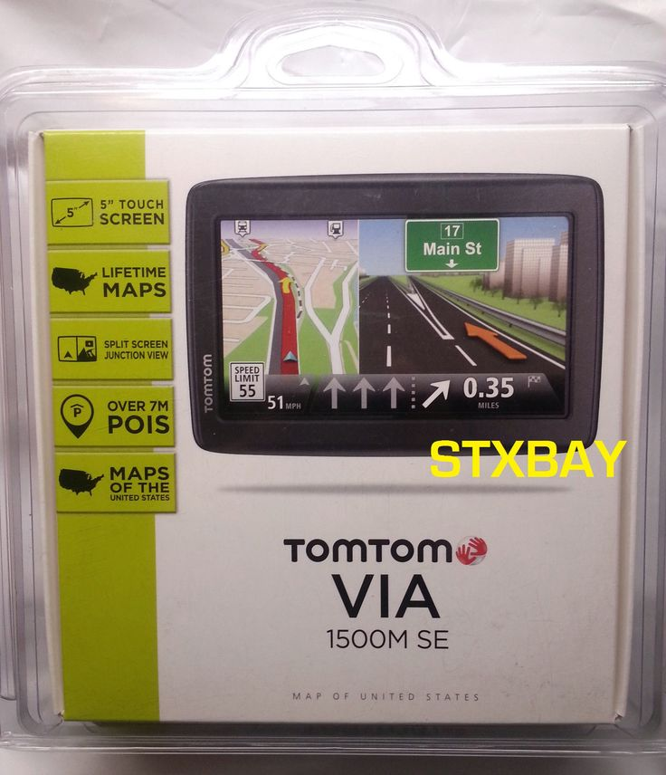 TomTom VIA 1500M SE GPS US Lifetime Maps 5 Touch Screen NEW factory Sealed