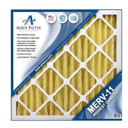 25x25x1 Pleated Air Filter Merv 11 - Highest Quality - 6 Pack - (Actual Size: 24.75 X 24.75 X .75)
