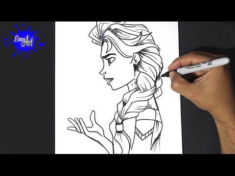Elsa of frozen - Drawing Elsa de Frozen  YouTube