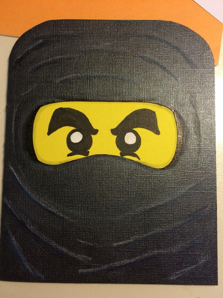 Eget kort. Ninjago kort. Egen design. Scrapbooking