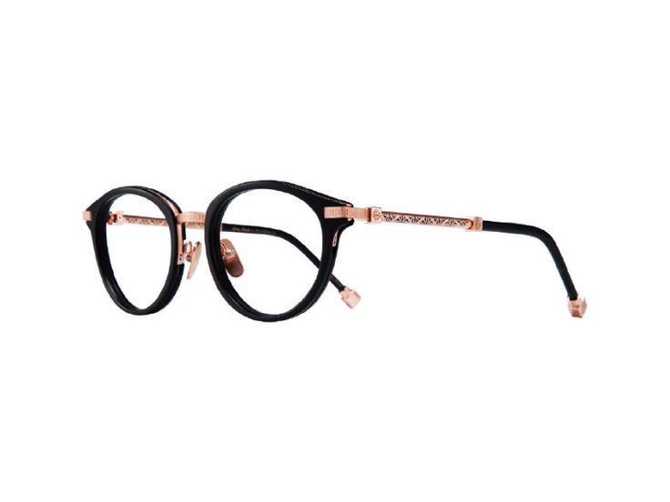 cabe86564d Shamballa Eyewear KARMA I frame in Matte Black - Rose Gold ...