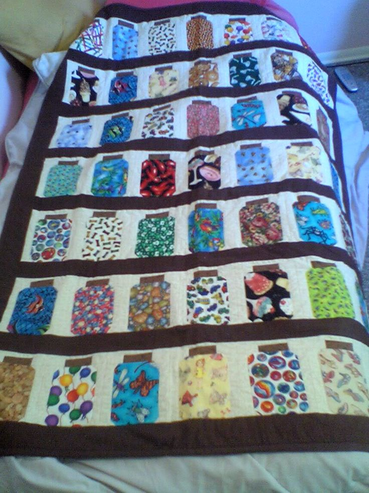 Jar Quilt **NOW WITH TUTORIAL!!** Image Heavy! - QUILTING