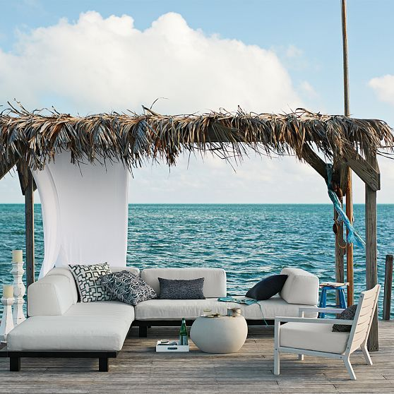 beachside: Living Rooms, Beaches House, Dreams, Outdoor Living, The Ocean, Patio, Backyard, West Elm, Heavens
