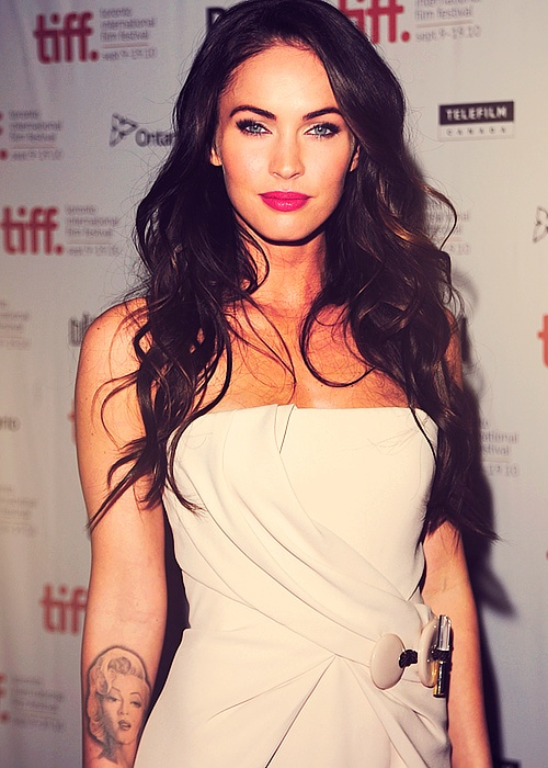 megan fox makeup, hair, style, everything.