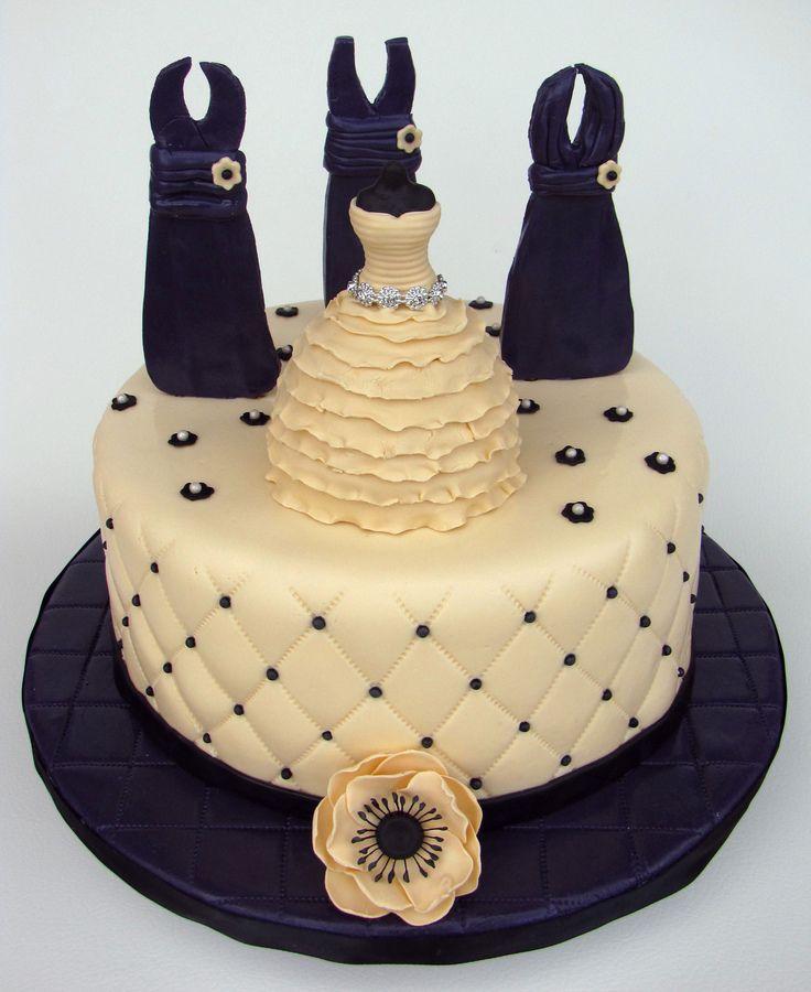 How To Make A Wedding Dress Cake. Elegant Cake Mom How To Make A ...
