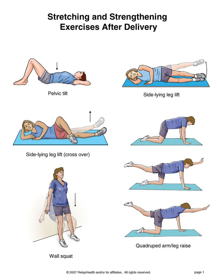 gentle post baby exercises