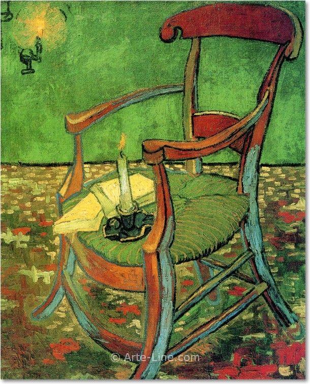 Vincent van Gogh La sedia di Gauguin Riproduzione a olio, qualità museale