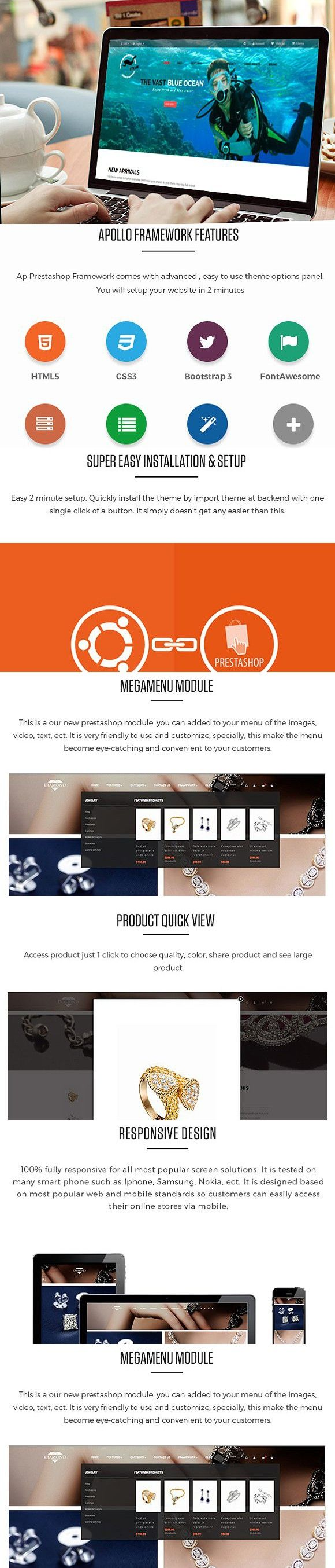 Ap Diving Store Prestashop Theme. Website Templates
