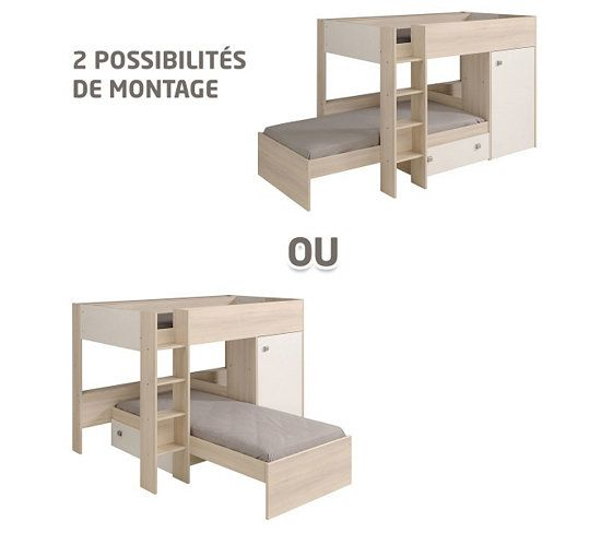 les 25 meilleures id es concernant lit superpos sur pinterest lits superposes d 39 enfants 3. Black Bedroom Furniture Sets. Home Design Ideas