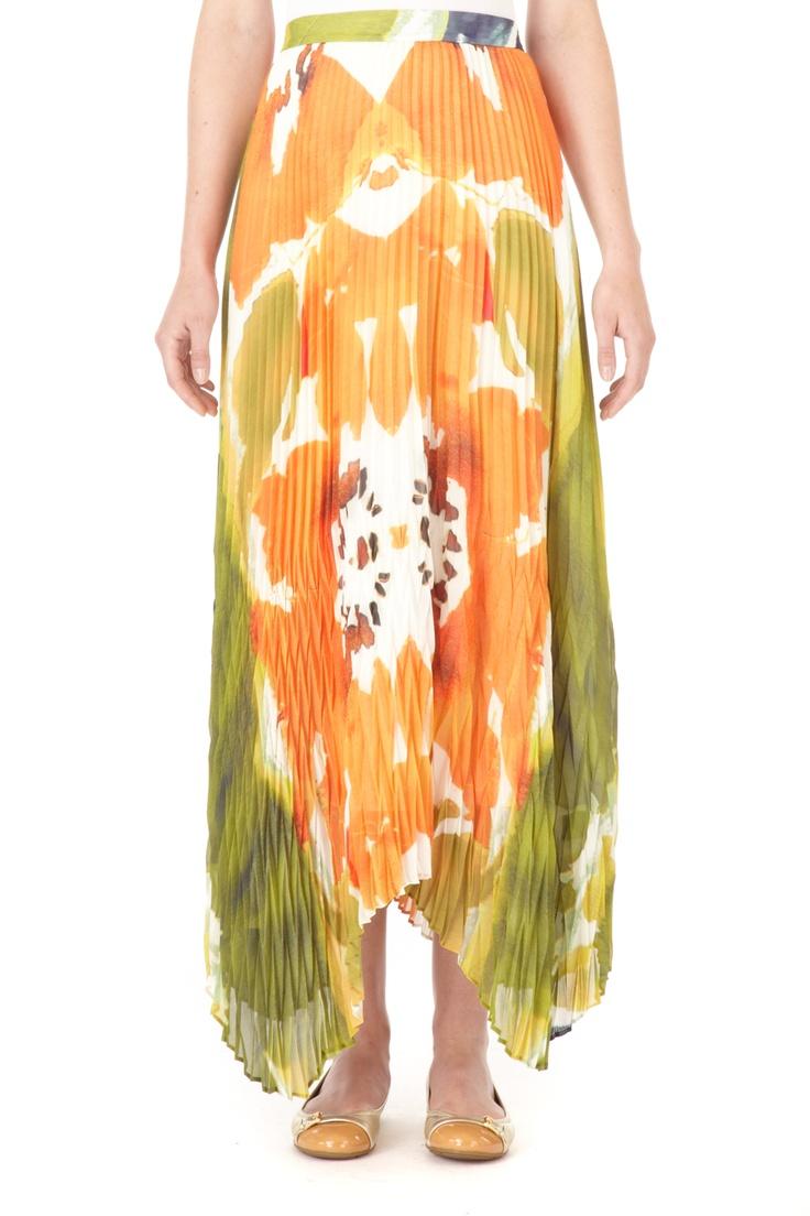 Cleo Pleated Long Skirt   Holt Renfrew #holtspintowin