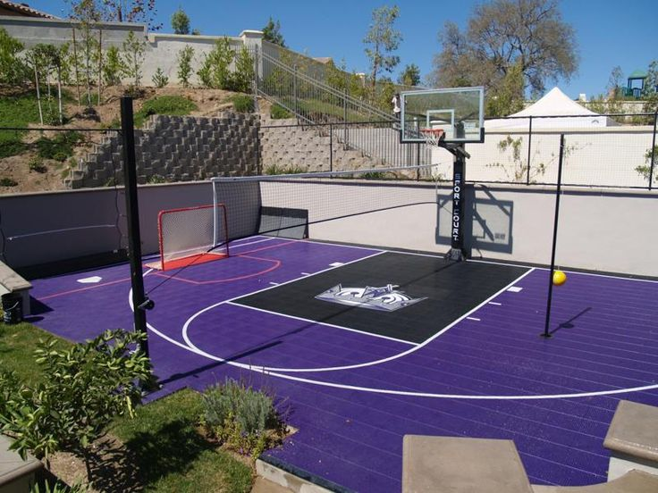 17 best basketball courts more images on pinterest for Backyard sport court ideas