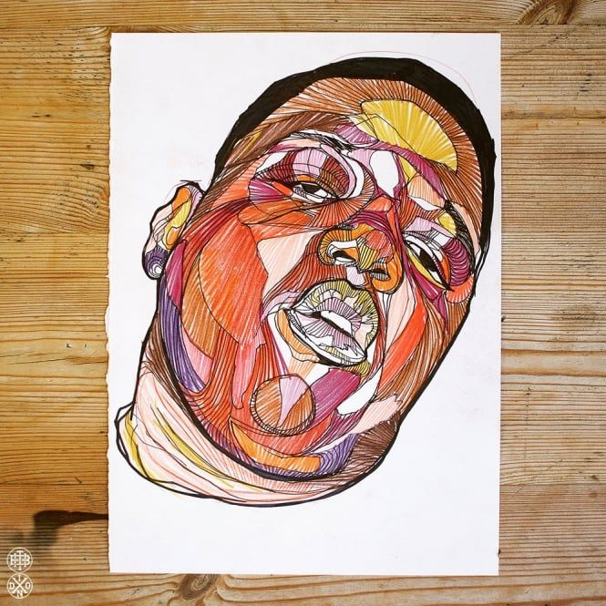 LUKE DIXON - BIGGIE - ORIGINAL DRAWING -