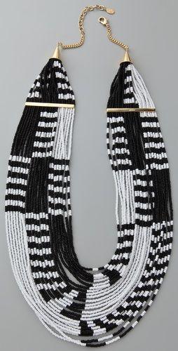 noir jewelry - multi strand beaded necklace