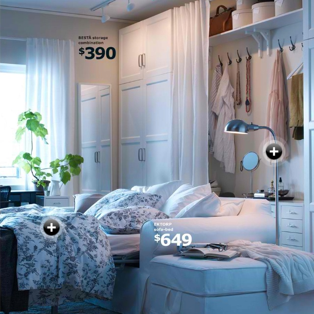 IKEA Besta.... Made A Closet From A Wall With Armoires On