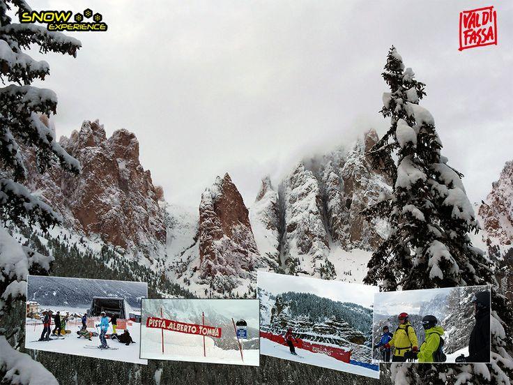 Starten naast het hotel in Vigo di Fassa. Via Pozza di Fassa richting Alba. Uiteraard een stop bij Rifugio Buffaure en een afdaling over de Alberto Tomba piste! Dolomiti Super Skisafari 2014.