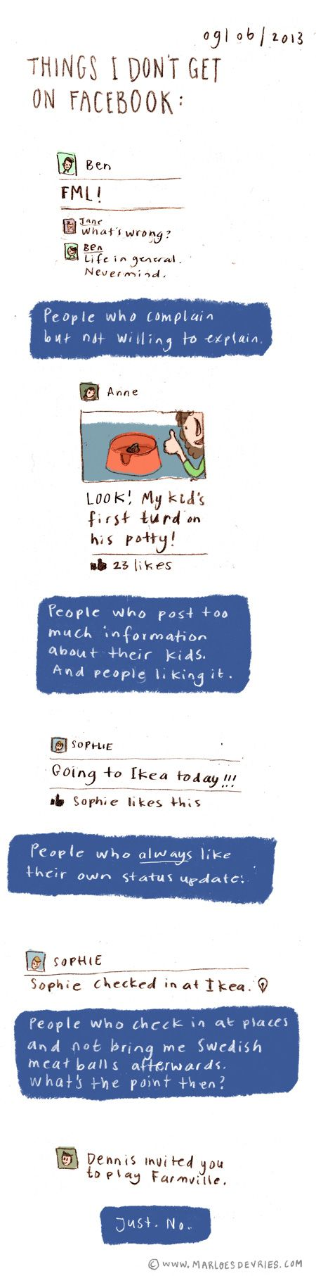 Things I don't get on Facebook, by Marloes de Vries