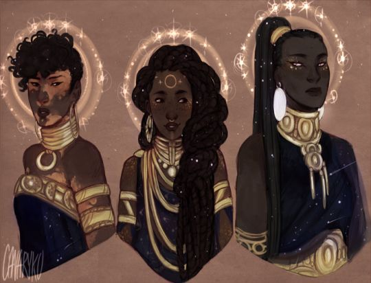 "doodlesfromthebird:  I took a slight look back on my night guardian sisters ""humanoid"" form and really wanted to redo them a bit, even thought it's only been two or three months (and chances are they'll probably change two or three months further from now, but)"