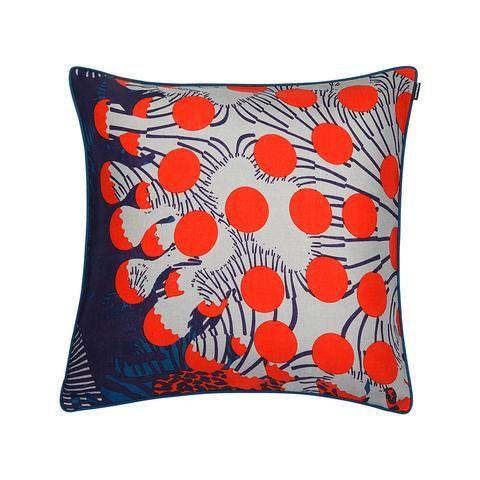 Marimekko Merivuokko Cushion Cover Blue/Red 50x50 CM