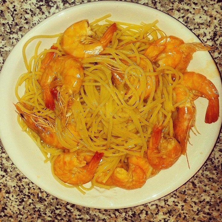 #Spaghetti con #mazzancolle.  What else?