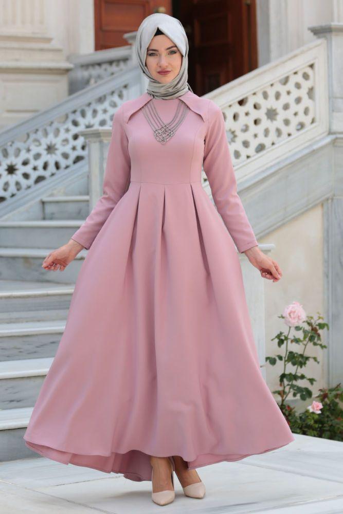 Neva Style Daily Dress Dusty Rose Hijab Dress 41470gk Mmm