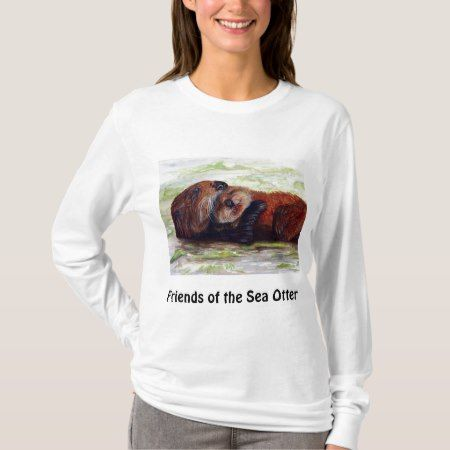 Friends of the Sea Otter Long Sleeve Shirt Womens - click/tap to personalize and buy