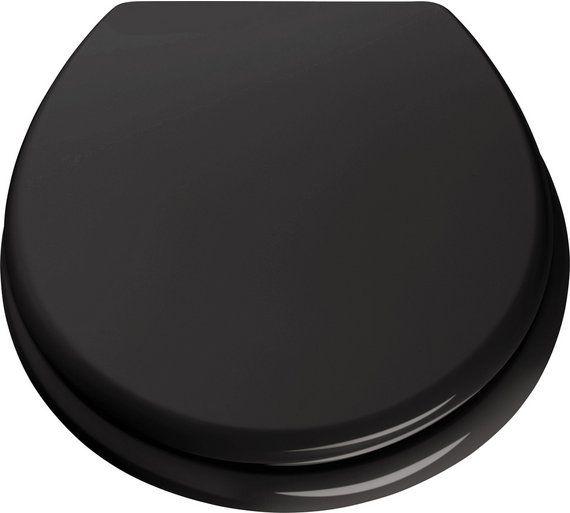 buy colourmatch toilet seat jet black at argoscouk visit argos
