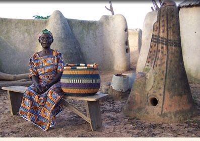 beautiful baskets are hand-crafted by the weavers of Bolgatanaga, Ghana | Three Bags Full Knit Shop