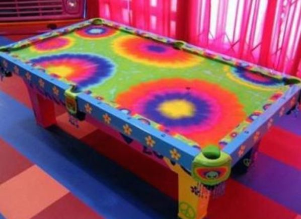 Amazing Hippy Pool Table And Game Room!
