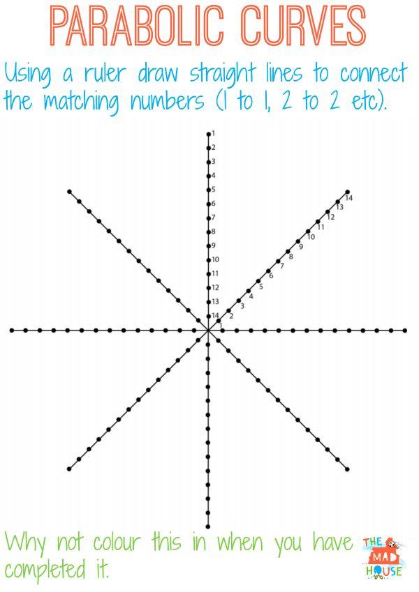 parabolic curve circle web
