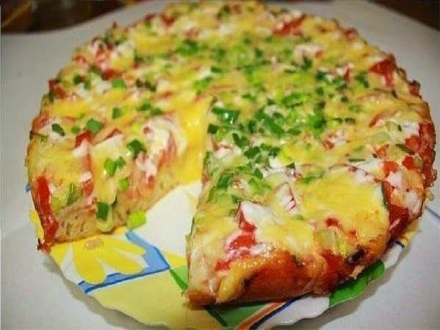 Самая вкусная пицца на сковороде