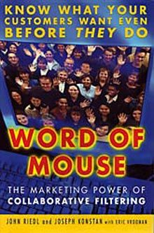2016 – 01 – 07 TODAY'S DEAL!!! 50% OFF!! Ships from United States Word of Mouse: The Marketing Power of Collaborative Filtering (15) $5.99 You save 50% off the regular price of $11.99 WORD ...