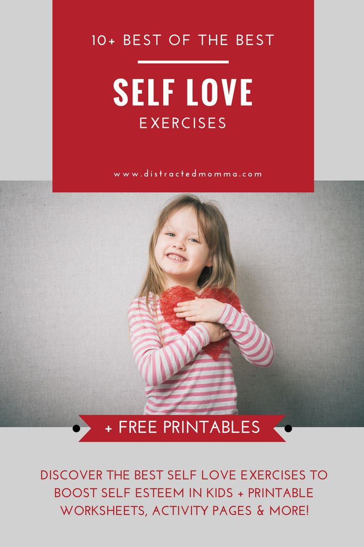 Discover the best self love exercises for kids that actually work and help boost self esteem in kids!