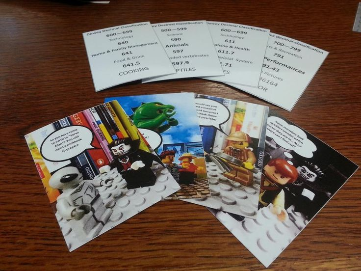 Dewey decimal classification card game - from Teen Librarian - free