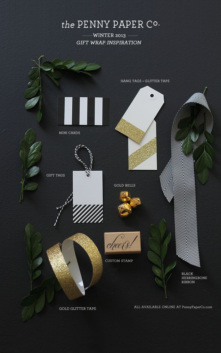 The Penny Paper Co. - Gift Wrapping Inspiration: <3 glitter washi tape on gift tags!